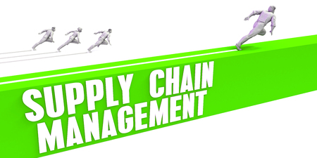 Supply Chain Management as a Fast Track To Success Stock Photo