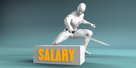 Cutting Salary and Cut or Reduce Concept
