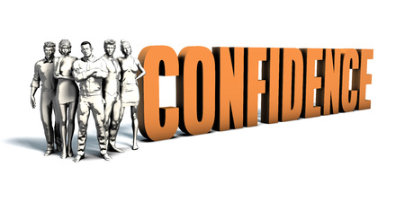 Business People Team Focusing on Improving Confidence as a Concept