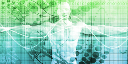 Digital Health System Software and Body Technology as Concept Foto de archivo
