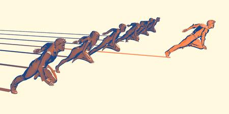 Head Start in Business as an Advantage in Race Foto de archivo