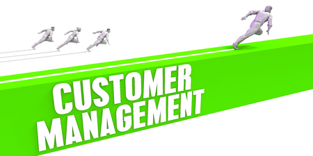 Customer Management as a Fast Track To Success Stock Photo
