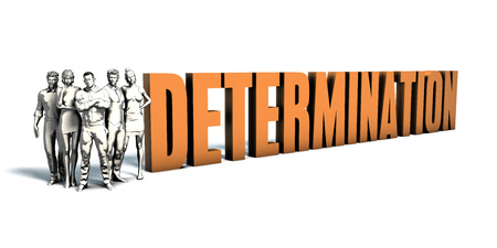 Business People Team Focusing on Improving Determination as a Concept