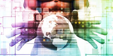 国際貿易とマップとグローバル化した経済