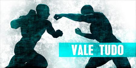 Vale tudo Martial Arts Self Defence Training Concept Stock Photo