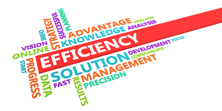 Efficiency Word Cloud Concept Isolated on White