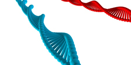 DNA Medical Background with Atomic Cells Concept Stock Photo