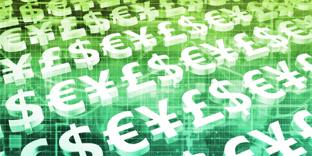 Money Exchange Concept for Online Trading as Art Stok Fotoğraf