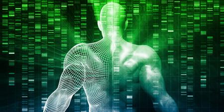 Concetto scientifico di sviluppo e ricerca genetica Archivio Fotografico - 81842559