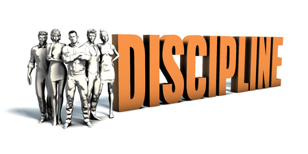 Business People Team Focusing on Improving Discipline as a Concept