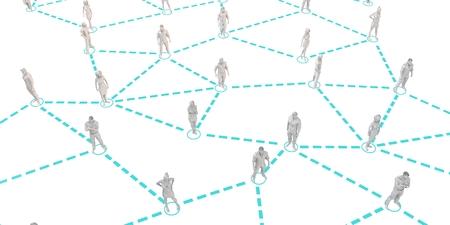 Social Media Network and Interaction Between People Art Lizenzfreie Bilder