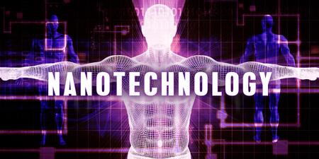 Nanotechnology as a Digital Technology Medical Concept Art