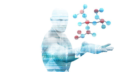 Abstract Science Medical Background as a Concept