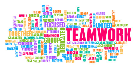 Teamwork Word Cloud Concept on White