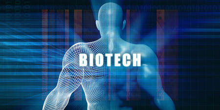 Biotech as a Futuristic Concept Abstract Background