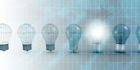 Innovation Technology as a Working Solution Idea Archivio Fotografico