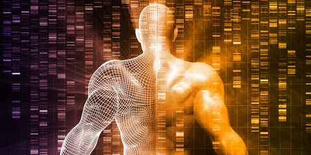 cytosine: DNA Sequencing or Sequence as a Science Abstract Stock Photo