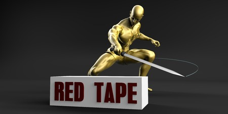slash: Reduce Red Tape and Minimize Business Concept