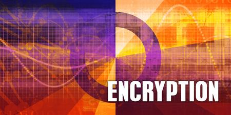 Encryption Focus Concept on a Futuristic Abstract Background Lizenzfreie Bilder