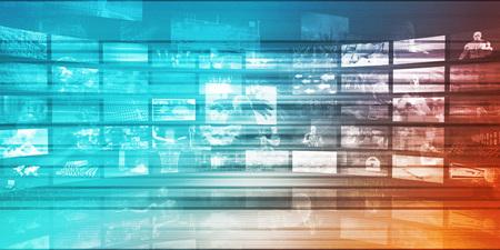 Online Research Concept on Data Around the World Lizenzfreie Bilder