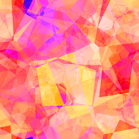 Seamless Geometric Pattern with Colorful Elements Art