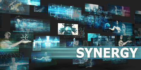 Synergy Presentation Background with Technology Abstract Art