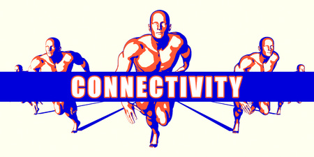 connectivity: Connectivity as a Competition Concept Illustration Art Stock Photo
