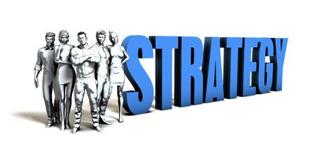 Strategy Business Concept as a Presentation Background Lizenzfreie Bilder
