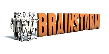 Business People Team Focusing on Improving Brainstorm as a Concept Lizenzfreie Bilder