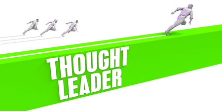 Thought Leader as a Fast Track To Success Stock Photo