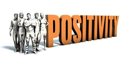 Business People Team Focusing on Improving Positivity as a Concept