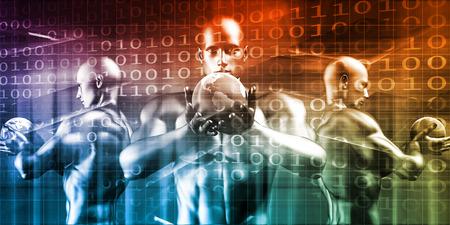Security Network and Data Protection Infrastructure Concept Lizenzfreie Bilder