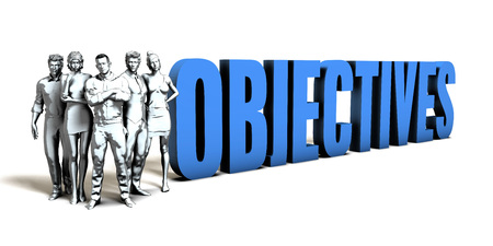 Objectives Business Concept as a Presentation Background
