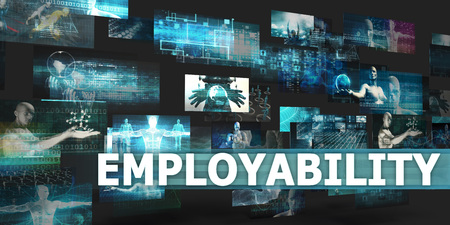 Employability Presentation Background with Technology Abstract Art Stock fotó