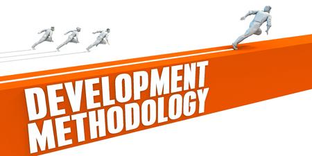 strategic advantage: Development Methodlogy Express Lane with Business People Running