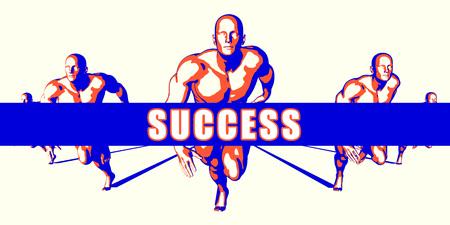 better: Success as a Competition Concept Illustration Art