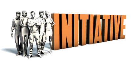 immediate: Business People Team Focusing on Improving Initiative as a Concept
