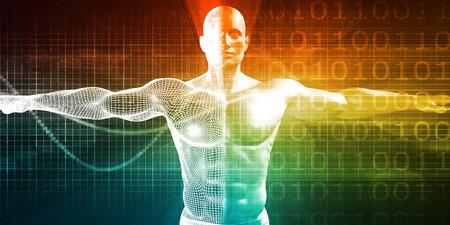 의료 테스트 및 인간 남성의 신체 검진