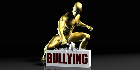 Eliminating Stopping or Reducing Bullying as a Concept Stock Photo