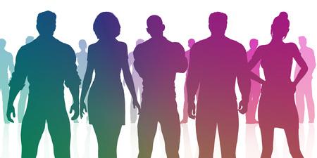 인력 및 인적 자원부 직원 배치 개념