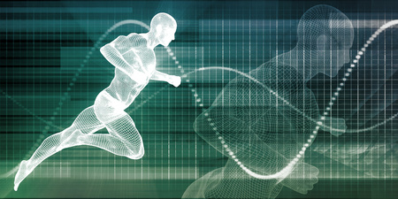 Fitness Technology and Sports Monitoring Data Concept Background