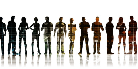 employment agency: Business Team of Professionals Standing for Career Concept Stock Photo