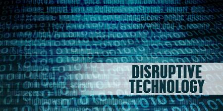 Disruptive Technology Revolution als een presentatie achtergrond Stockfoto