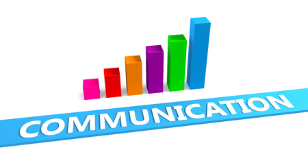 better: Great Communication Concept with Good Chart Showing Progress Stock Photo