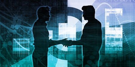 Strategic Partnership in a Business Environment Concept