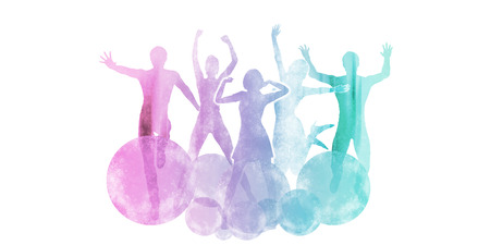 dancing club: People Dancing at a Party as An Abstract Concept Stock Photo