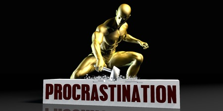Eliminating Stopping or Reducing Procrastination as a Concept Stock Photo