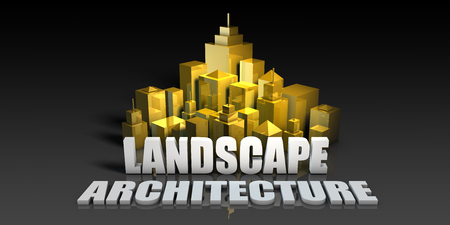 Landscape Architecture Industry Business Concept with Buildings Background
