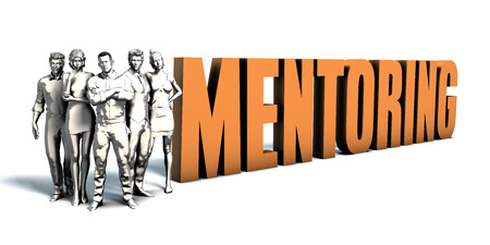 Business People Team Focusing on Improving Mentoring as a Concept