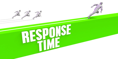 Response Time as a Fast Track To Success Stock Photo